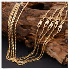 1Pcs 18-26inch Fashion 18K Yellow GOLD filled Rolo CHAIN NECKLACE US0047