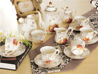 Vintage Bone China Tea Cup And Teapot Saucer Plate Dinner Sets Service 15 Piece