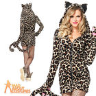 Adult Cozy Leopard Costume Sexy Jungle Cat Fancy Dress Outfit by Leg Avenue