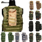 Militray Tactical Molle Zipper Water Bottle Hydration Pouch Bags Carrier Hiking