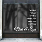 PERSONALISED NAIL AND SPA hair salon beauty shop sticker window vinyl decal