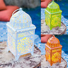 Moroccan Battery Operated Indoor Outdoor Garden Patio Metal LED Candle Lantern