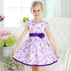KIDS Girls Baby Cotton Floral Dress Formal Dress sz 0/3m-3/6m-6/9m-1-2-3-4-5-6