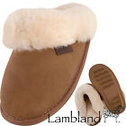 Ladies / Womens Genuine Sheepskin Slipper Mules with Hard Wearing Sole
