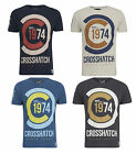 New Mens FAZEDOWN Crosshatch Crew Neck Short Sleeve Cotton T Shirt
