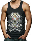 Skull With Bones Men's Tank Top T-shirt