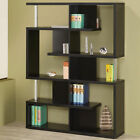 Modern Open Maze Bookcase with Chrome Support Beams