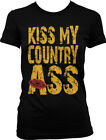 Kiss My Country Ass Popular Country Song Rebel Lyrics Redneck Juniors T-shirt