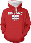 Finland Country Flag Finnish Pride Suomi Football Soccer 2-tone Hoodie Pullover
