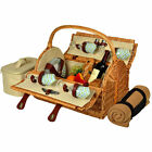 Picnic at Ascot Yorkshire Picnic Basket for 4 with Blanket