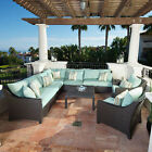 Deco 9 Piece Sectional and Club Chair Set