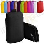 Large Premium PU Leather Pull Tab Case Cover Pouch For HTC One X