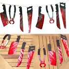 FD2827 Halloween Bloody Weapons Garland Blood Tool Saw Hanging Party Prop Decor