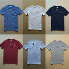 Hollister Abercrombie Mens Henley Shirt Tee Top Polo Button Tshirt Authentic NWT