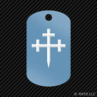 Cross Crosslet Fitchy Keychain GI dog tag engraved many colors