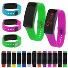 Women Silicone Band Digital Red LED Bracelet Wrist Watch Sport Running Watches