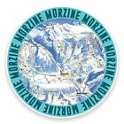 2 x 10cm Morzine France Ski Snowboard Vinyl Sticker Map Laptop Luggage Tag #9608