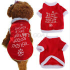 Pet Christmas Clothes Puppy T-Shirt Costume Warm Coat Dog Jacket Apparel Hoodie