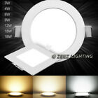 3/4W 6W 9W 12W 15W 18W 20W 25W Dimmable LED Recessed Ceiling Panel Light Fixture