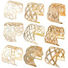 New Chic Womens Gold Plated Big Wide Bangle Hollow Fashion Bracelet Jewelry Gift
