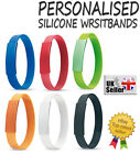 Custom Personalised Silicone Wristbands 12mm ANY NAME ANY TEXT Bracelets