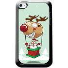 Santa Reindeer Christmas Fun & Frolics Hard Case For iPod Touch 4th Gen
