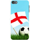Flag with Black & White Football Hard Case For Apple iPod Touch 6th Gen