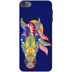 Traditional Indian Mehndi Swirl Animals Hard Case For Apple iPod Touch 6th Gen
