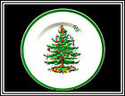 """VINTAGE SPODE """"CHRISTMAS TREE   HOLLY TREE""""  PIECES,  MADE IN ENGLAND,  VGC"""