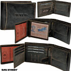 BAG STREET Wallet with 19 Compartments Robust Cowhide Purse Wallet 5453