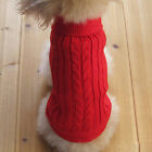 Pet Dog Cat Sweater Puppy Jacket Clothes Coat Apparel For Small Pet  + Buckle