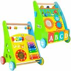 boppi - Wooden Push Along Activity Walker for Babies & Toddlers - 9-18 Months