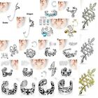 Rhodium Plated Brass / Gold IP Non Piercing Ear Cuff Helix Earring Choose Style