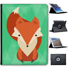 Geometric Modern Animals Folio Cover Leather Case For Apple iPad