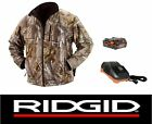 NEW RIDGID 18v 18 VOLT CAMOUFLAGE HEATED JACKET COAT  + B...