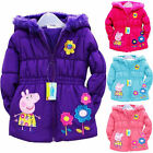 'peppa Pig Girls' Pink Puffa Nursery/school Coat Hooded Jacket Winter Coat