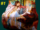 Fleece Girl Piano Angel Religious Victorian Fabric Sew Blanket Quilt Bed Novelty