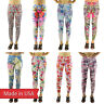 More images of USA New Floral Colorful Flowers Tartan Pastel Sport Yoga Stretchy Leggings Pants