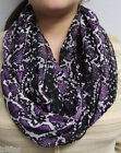 *NWT Calvin Klein Purple Passion Animal Print Loop Scarf A4WI2148 36x28 D&D