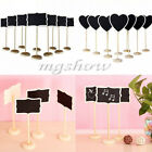 10x New Wooden Blackboard Chalkboard With Stand Place Wedding Table Number Sign