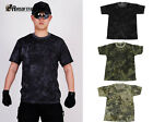 Camouflage Tactical Quick Drying T-shirt Military Paintball Short Sleeve Shirt A