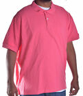 Dockers Men's Big & Tall Casual Pink Polo Shirt