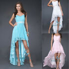 Hi-lo Formal Chiffon Evening Dress Cocktail Party Prom Gowns Bridesmaid Dresses
