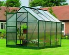 Gardman Greenhouse Aluminium Polycarbonate With Steel Base Free Delivery 3 Sizes