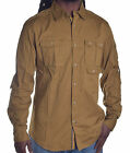 Sean John Men's Dull Gold Button Up Shirt Choose Size