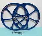 """NEW Mag Alloy All-Blue 26"""" Bike Rims For 8/9 Gears, Disc Only"""