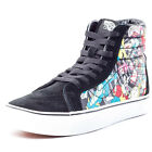 Vans Disney SK8-Hi Reissue Womens Suede & Canvas Black Multi Trainers New Shoes