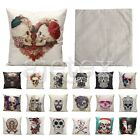 Skull Witch Pirate Pillowcase Cotton Linen Pillow Case Sofa Waist Cushion Cover