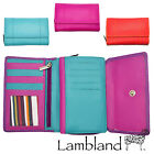 Lambland Womens / Ladies Quality Leather Organiser Purse in Multi Colours