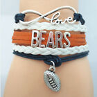 Infinity Love NFL DALLAS State Cowboys Football Team Sports LEATHER Bracelet HOT
